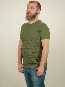 T-Shirt Herren - Barbwire - green - NATIVE SOULS