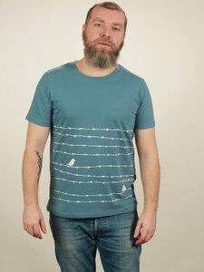 T-Shirt Herren - Barbwire - light blue - NATIVE SOULS