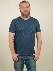 T-Shirt Herren - Dove - dark blue - NATIVE SOULS
