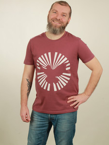 T-Shirt Herren - Dove Sun - berry - NATIVE SOULS