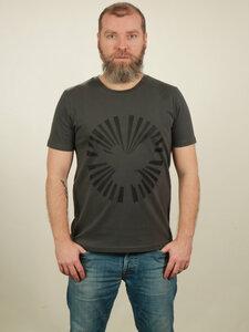 T-Shirt Herren - Dove Sun - dark grey - NATIVE SOULS
