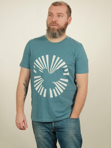 T-Shirt Herren - Dove Sun - light blue - NATIVE SOULS