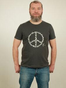 Slub T-Shirt Herren - Peace - dark grey - NATIVE SOULS