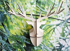 Wanddeko Hirsch aus Holz - studio roof