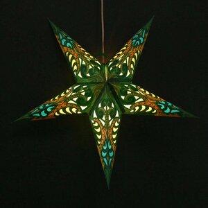 Weihnachtsstern aus Papier - inkl. Beleuchtungsset -Deepali - grün - MoreThanHip