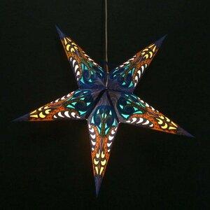 Weihnachtsstern aus Papier - inkl. Beleuchtungsset -Deepali - blau - MoreThanHip
