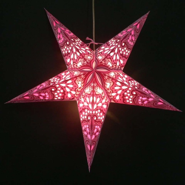 Morethanhip Weihnachtsstern Aus Papier Inkl Beleuchtungsset