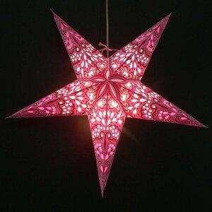 Weihnachtsstern aus Papier - inkl. Beleuchtungsset -Amisha -rosa - MoreThanHip