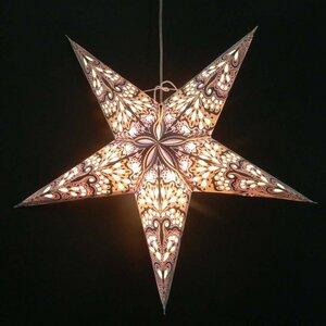 Weihnachtsstern aus Papier - inkl. Beleuchtungsset -Amisha - grau - MoreThanHip