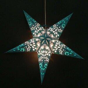 Weihnachtsstern aus Papier -inkl. Beleuchtungsset -Amisha -blau/türkis - MoreThanHip
