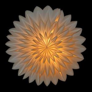 Zinnia - Tolle Hängelampe aus Papier, inkl. Beleuchtungsset - weiß - MoreThanHip