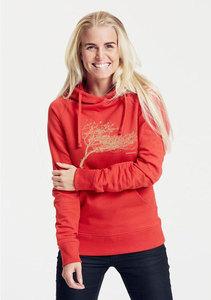 "Bio-Damen-Kapuzensweater ""Windytree"" - Peaces.bio - Neutral® - handbedruckt"