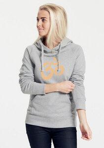"""Bio-Damen-Kapuzensweater """"Ohm"""" - Peaces.bio - Neutral® - handbedruckt"""