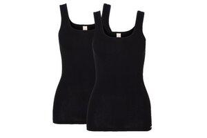 Doppelpack Unterhemd Achselträger schwarz - comazo|earth