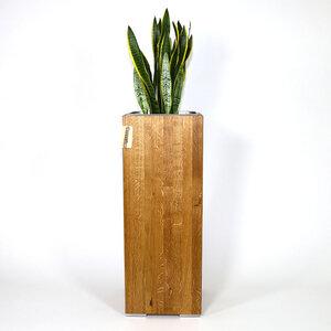 Pflanzsäule 1 Meter Eiche Vollholz, Seitenmaß 34,5 x 37 cm - GreenHaus
