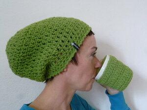 Häkelbeanie Greenbean - mörtel.mütze