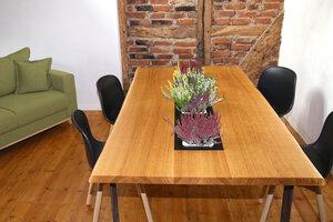 Pflanztisch 200x100 cm Eiche Vollholz Esstisch Tischplatte Massivholz - GreenHaus