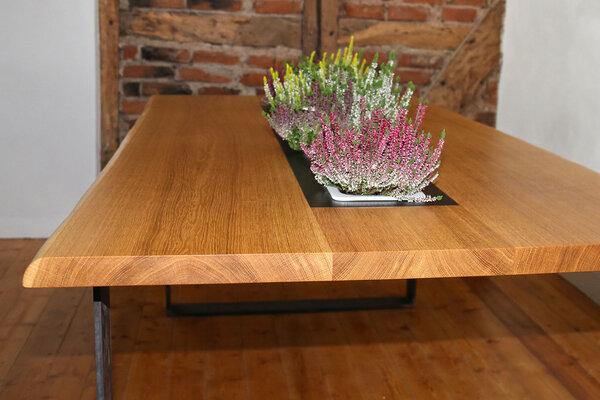 Greenhaus esstisch pflanztisch eiche vollholz 200x100 cm for Design esstisch vollholz
