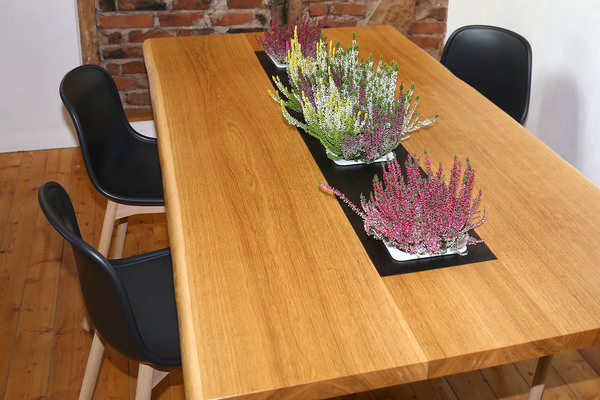 Greenhaus pflanztisch 250x100 cm eiche vollholz esstisch for Design esstisch vollholz