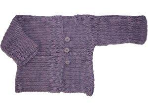 Strickjacke in lavendel aus feinster Alpakawolle. - MeDea