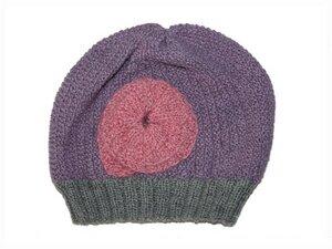 Mütze mit Blume aus feinster Alpakawolle für Kindergartenmädels. - MeDea