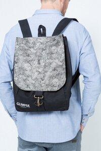 TRAVELLER - backpack - black - GLIMPSE Clothing