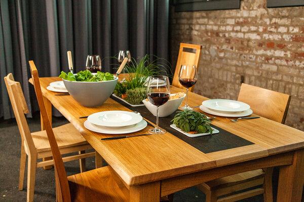 Greenhaus abverkauf pflanztisch 185x90 cm eiche for Designer esstisch abverkauf