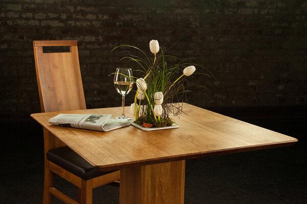 Greenhaus beistelltisch bistrotisch kaffeetisch eiche for Beistelltisch 80x80