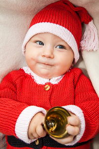Weihnachtsmann Mützchen Santa Claus aus Biobaumwolle - Baby Paul's