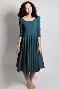 Kleid 'Vrida' smaragd, GOTS zertifiziert - Frija Omina
