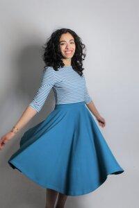 Kleid 'Vrida' petrol/ Streifen, GOTS zertifiziert - Frija Omina