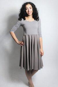 Kleid 'Vrida' cinder/ Streifen, GOTS zertifiziert - Frija Omina