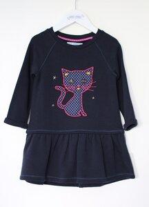 Baby und Kinderkleid langarm blau Bio Baumwolle - Enfant Terrible