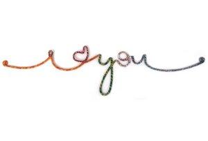 Wandschriftzug 'I love you' - Plan Shop