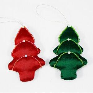 Weihnachtsbaum Anhänger aus Seide - Schönes aus Indochina