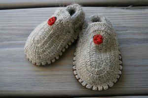 Babyschuhe aus Alpakawolle - Esencia