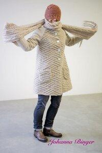 Kuschel-Mantel in A-Form mit Stehkragen, AMY - Johanna Binger