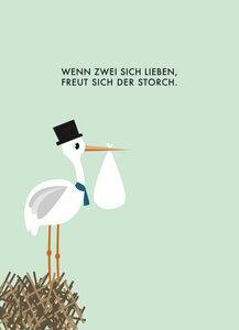 Postkarte Storch - Papier Ahoi