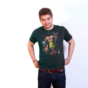 Mermaid in a Wonderland - Männershirt aus Bio-Baumwolle - Coromandel