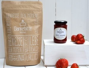 GeSCHENKset Fruchtig - Brot und Marmelade - Dankebitte