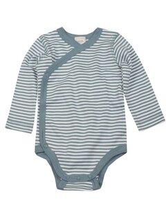 Kinder Body blau-geringelt - Lana naturalwear