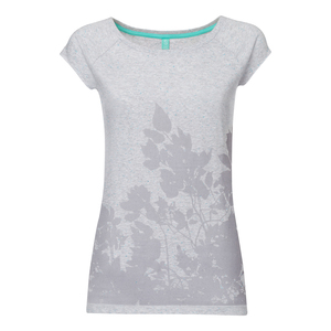 ThokkThokk Leaves Cap Sleeve grey melange spotted - THOKKTHOKK