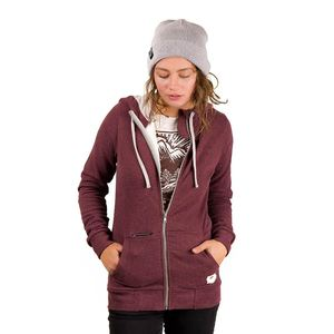 Woody Zip Jacke Ladies Aubergine - bleed