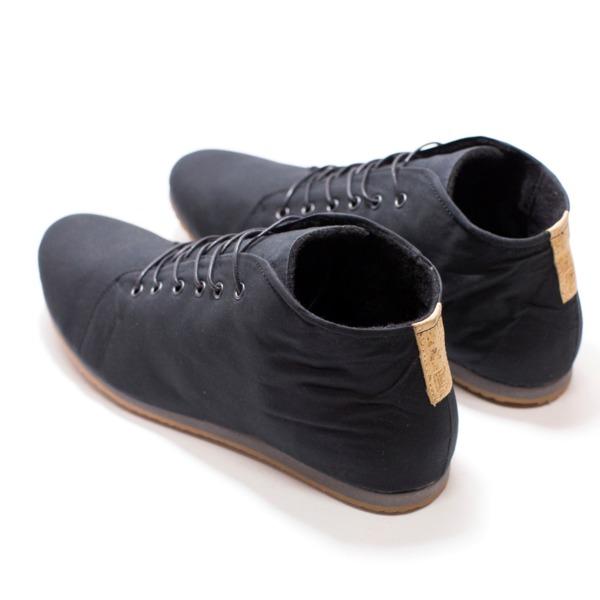 39 66 no2 veganer sneaker aus bio baumwolle schwarz grau. Black Bedroom Furniture Sets. Home Design Ideas