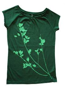 Bio-& Fair-Trade-Frauenshirt 'Liguster' grün - Hirschkind