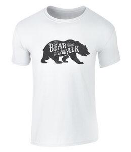 Vintage Style Bear Walk Badge Icon Unisex T Shirt - California Black Plate