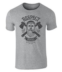 Respect the Old Beard Grafik, Vollbart, Vintage Style Unisex T-Shirt - California Black Plate