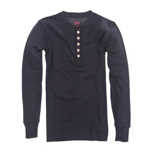 HENLEY RIB KNIT SHIRT - KnowledgeCotton Apparel