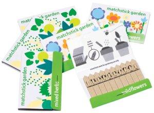 Streichholzgarten 'matchstickgarden' Blumen + Kräuter - matchstickgarden