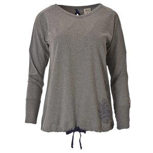 Fledermausshirt Langarm - grau  - People Wear Organic